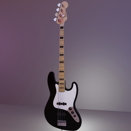 Jazz Bass Final HDRI Full Shot